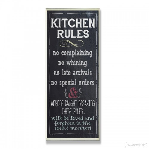 Andover Mills 'Kitchen Rules Chalkboard Look' Textual Art On Wood ADML8114