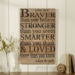 Andover Mills 'You Are Braver Than You Believe …' Textual Art on Wood ANDO8121