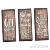 August Grove 'Get Naked Lather Rinse Repeat and So Fresh and So Clean Clean' 3 Piece Textual Art Set AGRV5408