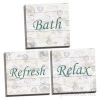 August Grove 'Relax Bubbles, Refresh Bubbles and Bath' 3 Piece Textual Art Set GHGH1673