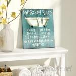August Grove Bathroom Rules Textual Art AAEX1031