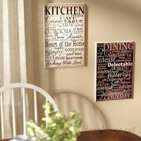 August Grove Isabell Dining and Kitchen 2 Piece Kitchen Textual Art Plaque Set ATGR1176