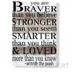 Beach Frames Reclaimed Wood You Are Braver than You Believe Textual Art Plaque BCHF1023