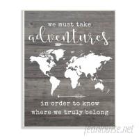 Brayden Studio 'Take Adventures Map' Textual Art VYH7705
