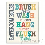 Harriet Bee Wall Plaque 'Colorful Bathroom Rules' Textual Art HBEE7388