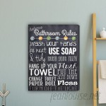 JDS Personalized Gifts Bathroom Rules Textual Art on Canvas JMSI3016