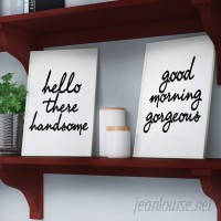 Mercury Row 'Hello There Good Morning' 2 Piece Wall Plaque Set MCRW3161