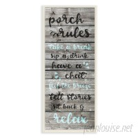 Stupell Industries Porch Rules Rustic Blue Sit Back and Relax Textual Art VYH4169