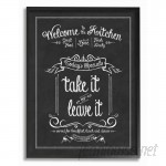 Stupell Industries Welcome To The Kitchen Chalkboard' Textual Art VYH4093