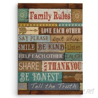 WexfordHome 'Family Rules' by Conrad Knutsen Textual Art on Wrapped Canvas WEXF1577