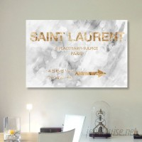 Willa Arlo Interiors 'Saint Sulpice Road Sign Marble' Textual Art on Wrapped Canvas WLAO2765