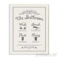 Winston Porter 'Guide to Bathroom Procedures' Linen Look Textual Art WNSP1914