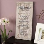 Winston Porter 'Marriage Prayer…' Textual Art Plaque WNPR8440