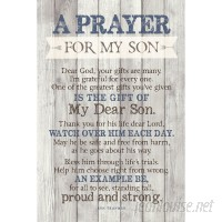 Winston Porter 'Prayer for My Son…' Textual Art Plaque WNPR8430