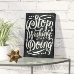 Wrought Studio Start Doing Noir Textual Art on Wrapped Canvas VKGL5586