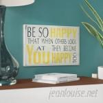 Zipcode Design 'Be So Happy' Textual Art ZPCD4213